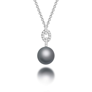 Alexa Tahitian Pearl Diamond Pendant Necklace