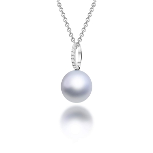 Hurley Akoya Pearl Diamond Pendant