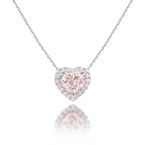 Natural Pink-Champagne Diamond Necklace
