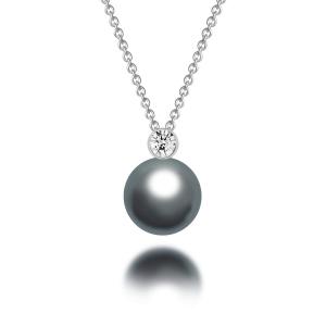 Perla Tahitian Pearl Diamond Pendant